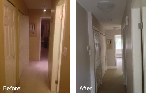 Adding trim to hallway
