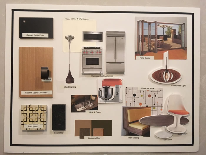 Mood board for the kitchen