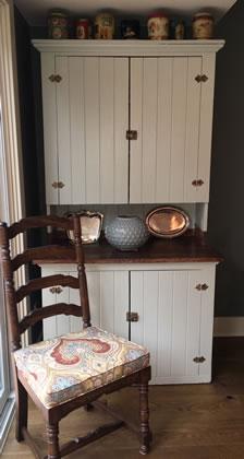 Vintage corner hutch