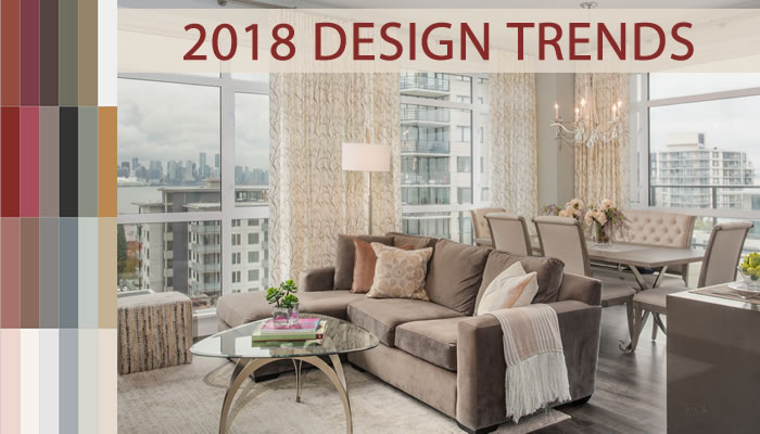 5 interior design trends for 2018 you 39 ll want to know a for Apartment design trends 2018