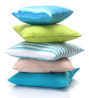 decorative stacked pillows