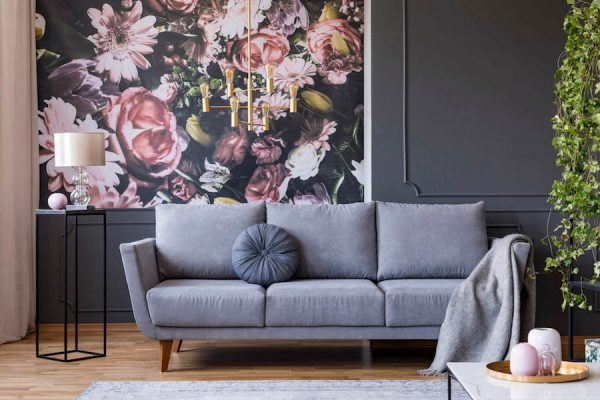 dark living room 2019 home décor trends