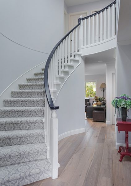 white stair case 2019 home décor trends