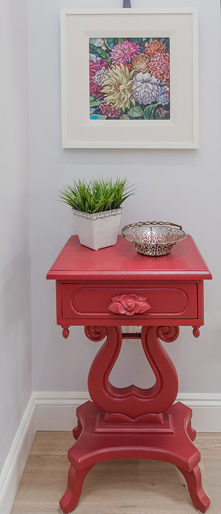Red Table Close Up