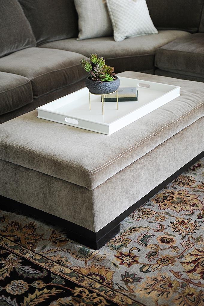 Ottoman & Carpet Close Up