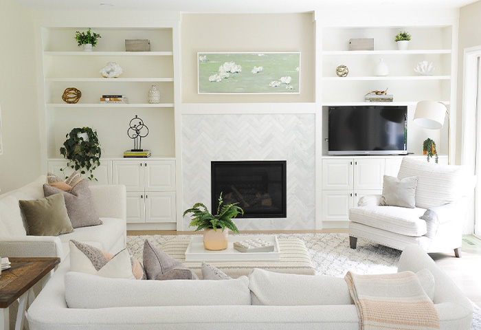 Renovation, remodeling and design living room Vancouver