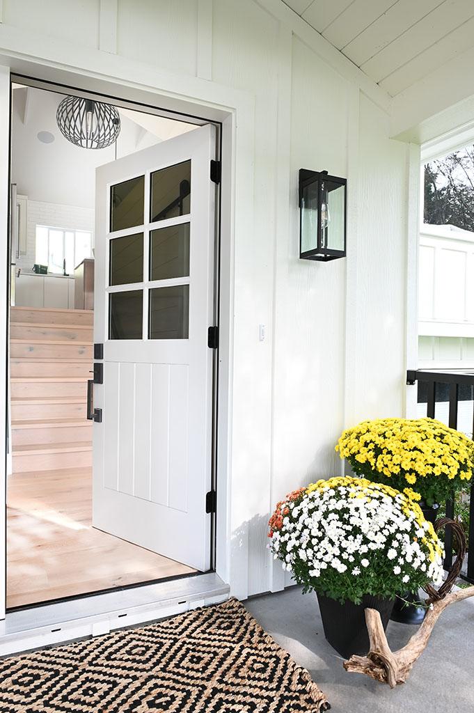 Weepers Front Porch Door Open