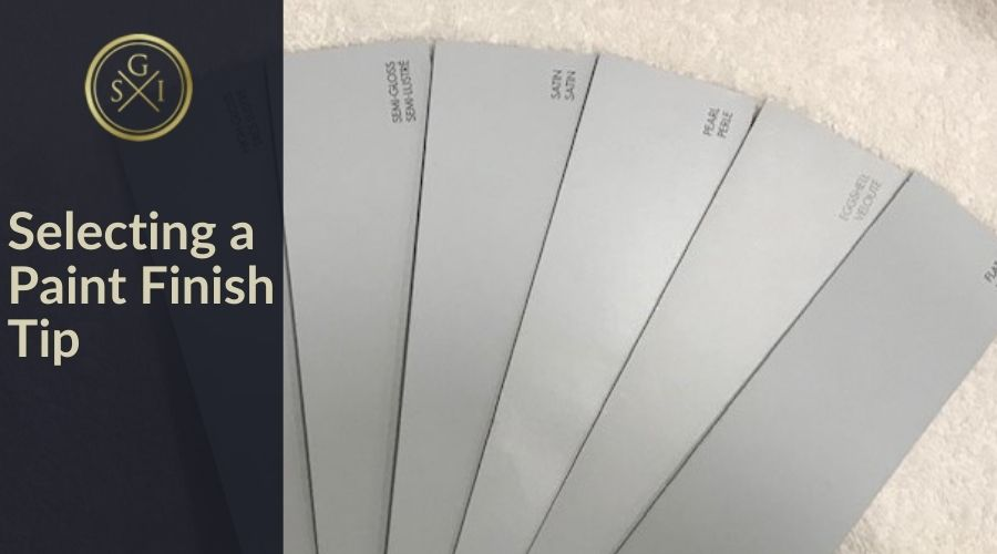Selecting a Paint Finish