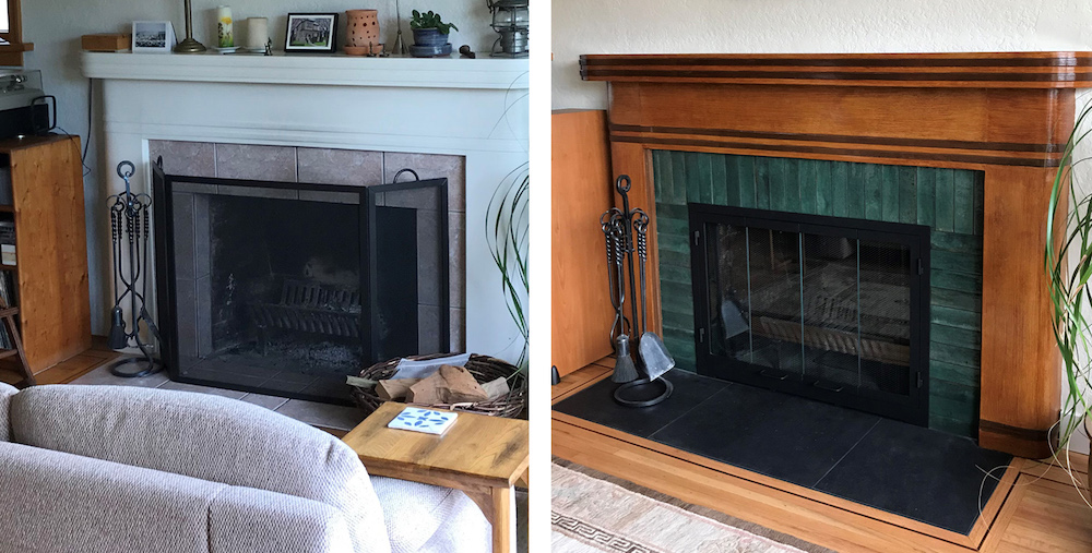fireplace faux wood redecorating