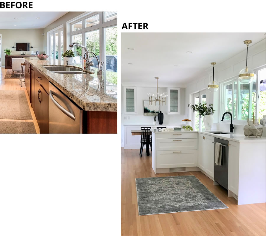 Functional Design Ruskin Kitchen Before and After