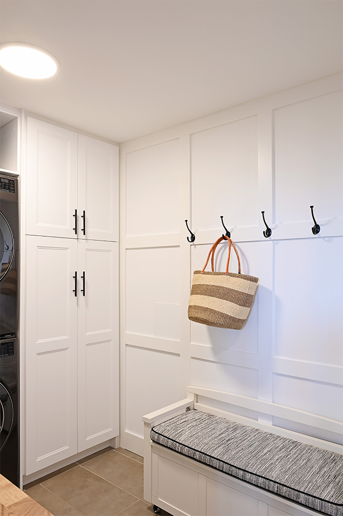 Ruskin Laundry Room Wainscott with Basket Tracey